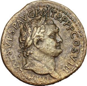 obverse: Titus (79-81).. AE Sestertius, 80 AD