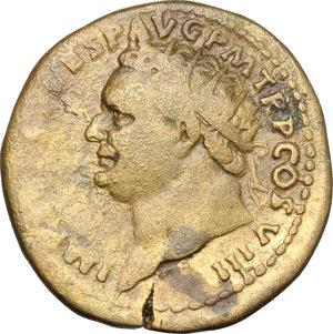 obverse: Titus (79-81).. AE Dupondius, 80-81 AD