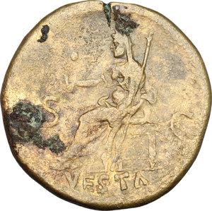 reverse: Titus (79-81).. AE Dupondius, 80-81 AD