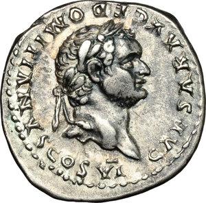 obverse: Domitian as Caesar (69-81).. AR Denarius, 79 AD