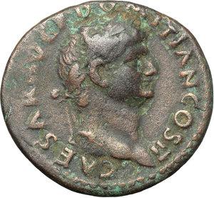 obverse: Domitian as Caesar (69-81).. AE As, 72 AD
