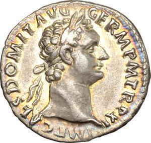 obverse: Domitian (81-96).. AR Denarius, 92 AD