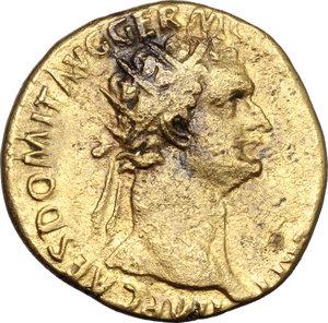 obverse: Domitian (81-96).. AE Dupondius, 85 AD