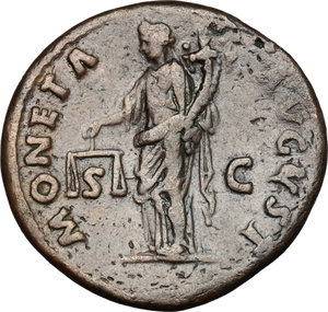 reverse: Domitian (81-96).. AE As, 85 AD