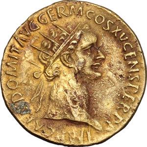 obverse: Domitian (81-96).. AE Dupondius, 90-91 AD