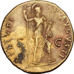 reverse: Domitian (81-96).. AE Dupondius, 90-91 AD