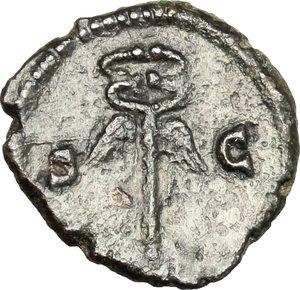 reverse: Domitian to Antoninus Pius. . AE Anonymous Quadrans, c. 81-161 AD