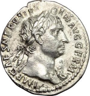 obverse: Trajan (98-117).. AR Denarius, 100 AD