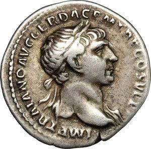 obverse: Trajan (98-117).. AR Denarius, 103-111 AD