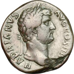 obverse: Hadrian (117-138).. AE Sestertius, 134-138 AD