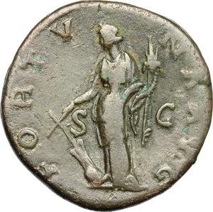 reverse: Hadrian (117-138).. AE Sestertius, 134-138 AD