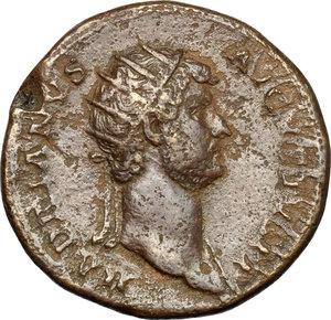 obverse: Hadrian (117-138).. AE Dupondius, Rome mint