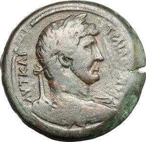 obverse: Hadrian (117-138).. AE Drachm, Alexandria mint, Egypt