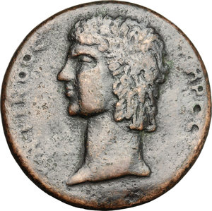 obverse: Antinous, favorite of Hadrian (died 130 AD).. AE Medallion, posthumous, possibly after Cavino (1500-1570)