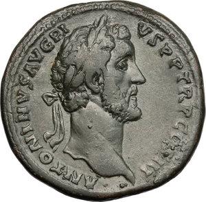 obverse: Antoninus Pius (138-161).. AE Sestertius, 140-144 AD