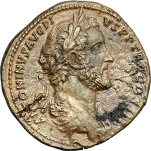 obverse: Antoninus Pius (138-161). AE Sestertius, 140-144 AD