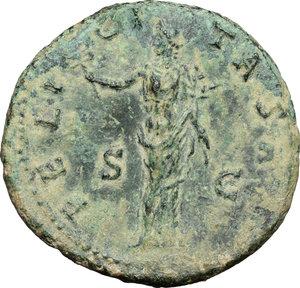 reverse: Antoninus Pius (138-161).. AE As, 140-144 AD