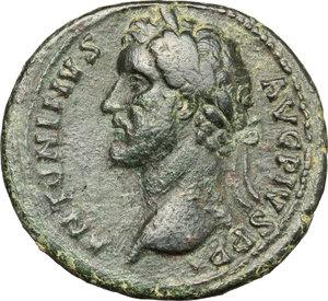 obverse: Antoninus Pius (138-161).. AE As, 140-144 AD