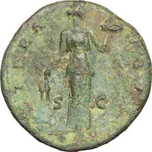 reverse: Antoninus Pius (138-161).. AE Sestertius, c.143-144 AD