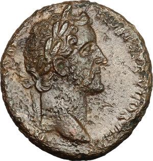obverse: Antoninus Pius (138-161).. AE As, 145-161 AD