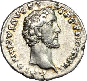 obverse: Antoninus Pius and Marcus Aurelius Caesar.. AR Denarius, 140 AD