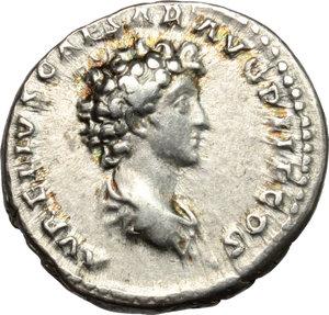 reverse: Antoninus Pius and Marcus Aurelius Caesar.. AR Denarius, 140 AD