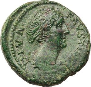 obverse: Faustina I, wife of Antoninus Pius (died 141 AD).. AE Sestertius