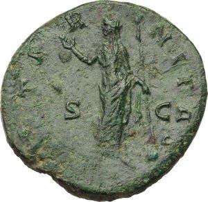 reverse: Faustina I, wife of Antoninus Pius (died 141 AD).. AE Sestertius