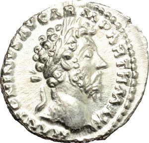 obverse: Marcus Aurelius (161-180).. AR Denarius, 166 AD