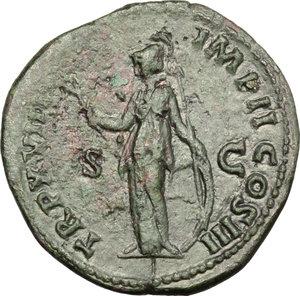 reverse: Marcus Aurelius (161-180).. AE Sestertius, 163-164 AD