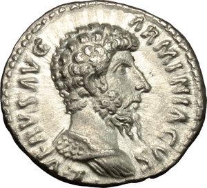 obverse: Lucius Verus (161-169).. AR Denarius, 163-164 AD