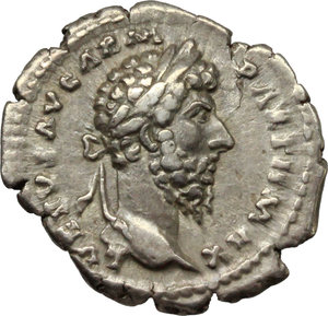 obverse: Lucius Verus (161-169).. AR Denarius