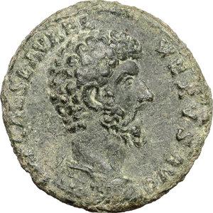 obverse: Lucius Verus (161-169).. AE As, 161 AD