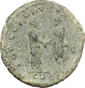 reverse: Lucius Verus (161-169).. AE As, 161 AD