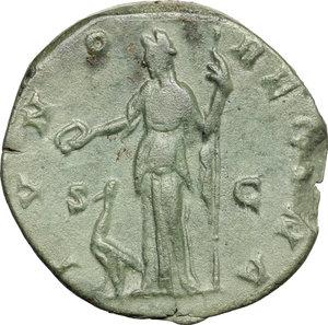 reverse: Lucilla, wife of Lucius Verus (died 183 AD).. AE As