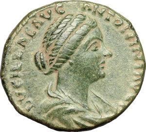 obverse: Lucilla, wife of Lucius Verus (died 183 AD).. AE As