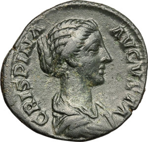 obverse: Crispina, wife of Commodus (died 183 AD).. AE Dupondius