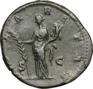 reverse: Crispina, wife of Commodus (died 183 AD).. AE Dupondius