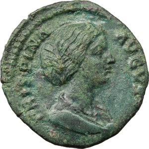 obverse: Crispina, wife of Commodus (died 183 AD.).. AE As