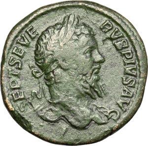 obverse: Septimius Severus (193-211).. AE Sestertius, 209-210 AD
