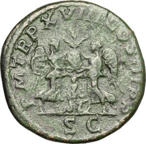 reverse: Septimius Severus (193-211).. AE Sestertius, 209-210 AD