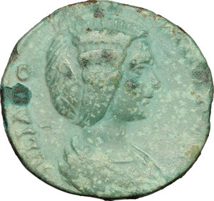 obverse: Julia Domna, wife of Septimius Severus (died 217 AD).. AE As, 193-196 AD