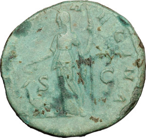 reverse: Julia Domna, wife of Septimius Severus (died 217 AD).. AE As, 193-196 AD