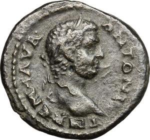 obverse: Caracalla (198-217).. AE 25 mm. Stobi mint (Macedonia)