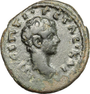 obverse: Geta as Caesar (198-209).. AE 17 mm. Nicaea mint, Bithynia