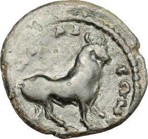 reverse: Geta as Caesar (198-209).. AE 17 mm. Nicaea mint, Bithynia