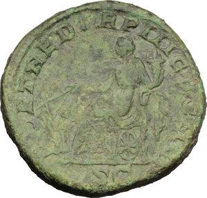reverse: Geta (209-212).. AE Sestertius, circa 211