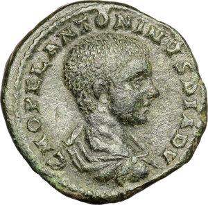 obverse: Diadumenian (218 AD).. AE 24 mm. Deultum mint, Thrace
