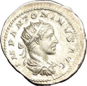 obverse: Elagabalus (218-222).. AR Antoninianus, 219 AD
