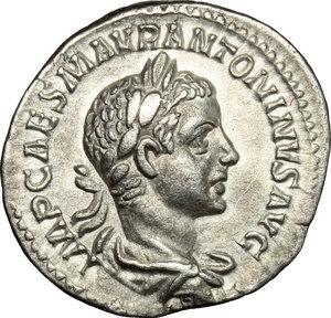 obverse: Elagabalus (218-222).. AR Denarius, 219 AD